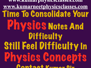 Time to consolidate your Physics studies
