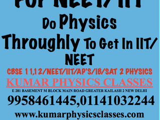 Two Attempts For NEET/IIT-Prepare Physics Throughly With Cbse To Crack NEET/IIT In First Attempt