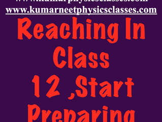 Cbse Class  12 Physics Preparation