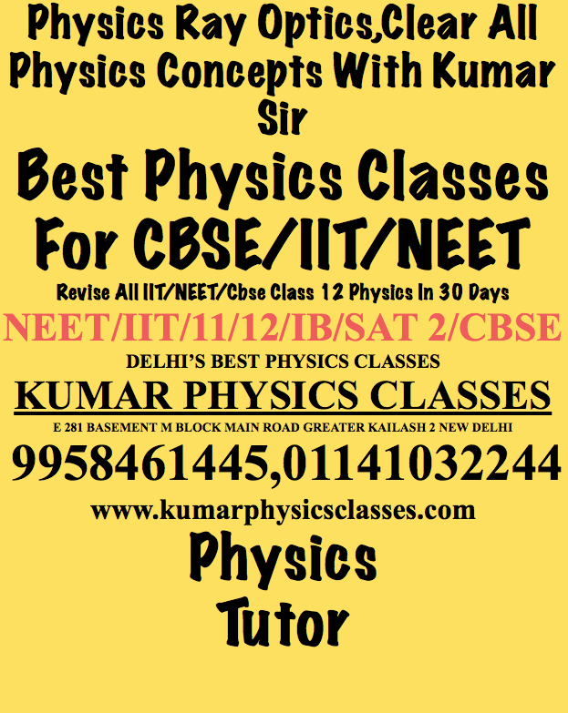 Physics Tutor In New Friends Colony -Kumar Sir-9958461445 Physics Specialist/Tutor/Classes-Kalkaji/Gk 2/Gk 1/C r Park/Alaknanda-Kumar Sir-9958461445- For a concave mirror, a virtual image can be anywhere behind the mirror. For a convex mirror, however, there is a maximum distance at which the image can exist behind the mirror. Why? Description-Let us consider the concave mirror first and imagine two different light rays leaving a tiny object and striking the mirror. If the object is at the focal point, the light rays reflecting from the mirror will be parallel to the mirror axis.  They can be interpreted as forming a virtual image infinitely far away behind the mirror.   www.kumarphysicsclasses.comAs the object is brought closer to the mirror, the reflected rays will diverage through larger and larger angles, resulting in their extensions converging closer and closer to the back of the mirror.  When the object is much closer to the mirror than the focal length, the mirror acts like a flat mirror, and the image is just as far behind the mirror as the object is in front of it. www.kumarphysicsclasses.comThus, the image can be anywhere from infinitely far away to right at the surface of the mirror.  For the convex mirror, an object at infinity produces a virtual image at the focal point. As the object is brought closer, the reflected rays diverge more sharply and the image moves closer to the mirror. Thus, the virtual image is restricted to the region between the mirror and the focal point. Still you are feeling any problem in RAY OPTICS- PHYSICS CONTACT -KUMAR SIR-9958461445 www.kumarphysicsclasses.com Ray Optics Physics-Physics Tutor In Kalkaji/C r Park/Gk 2/Alaknanda-Kumar sir-9958461445   Physics Tutor Physics Home Tutor Physics Classes Neet Physics Classes Cbse Physics Classes  Optics Physics Concepts By Kumar Sir-9958461445-Physics Tutor In Hauz Khas,Safdarjung Enclave,Khel Gaon,South Ex-Best Physics Lessons In Delhi   Physics Tutor South Delhi Physics Tutor In Delhi Physics Tutor In Gk 2 Physics Classes  Ray Optics Physics Concept By Physics Tutor In Vasant kunj,Mahipalpur,Vasant Vihar,Sainik Farm,Saket,Pvr,Pushpa Vihar,Sarojani Nagar,Ina,R K Puram-By Kumar Sir-9958461445   Physics Tutor Physics Tutor In Rkp Physics Tutor Vasant Kunj Physics Sir Vasant Vihar Kumar Physics Classes  Ray Optics Concepts Physics Do Excel In class 11,12,NEET,IIT Physics By Physics Tutor-Kumar Sir-9958461445-Physics Tutor In Kalkaji,Gk 2,Gk 1,C r Park,Vasant Kunj,Alaknanda   Physics Dps Physics Dps Vasant Kunj Physics In Don Bosco Physics In Alaknanda Physics Tutor Only  Just Excel In Physics -Physics Tutor In South Delhi/Delhi/East Delhi/West Delhi/North Delhi-Physics Tutoring By Kumar Sir -9958461445   Ray Optics Physics Classes Physics Tutor In East Physics Iit Classes Physics Tutor        Physics Tutor Physics Tutor Gk 2 Physics Tutor Vasant Kunj Physics Vasant Kunj Physics Neet Tutor