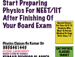 Physics Classes For Drop Outs,Non Attending Or Dummy School Students For Neet/IIT/CBSE