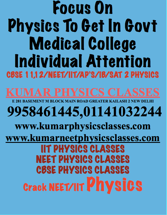 IIT PHYSICS CLASSES, NEET PHYSICS CLASSES, CBSE PHYSICS CLASSES, Crack NEET/IIT Physics, Best Physics classes In Delhi ,Best Physics Teacher In Delhi