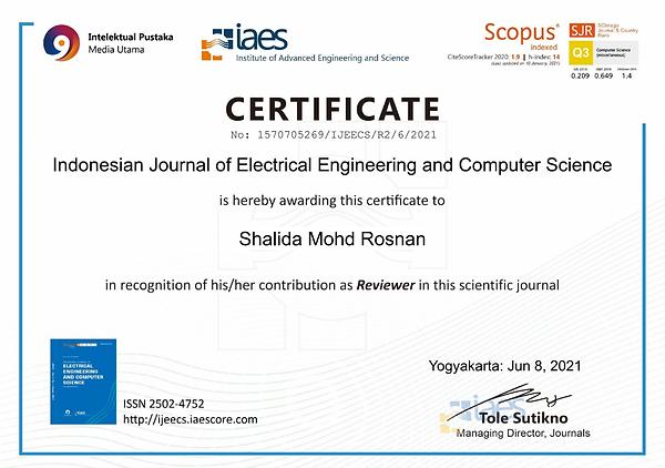 Reviewer Certificate IJEECS.png
