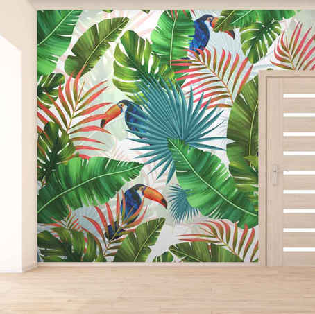 lifencolors-wallpaper-tropical-repeatlifencolors-wallpaper-floral-repeat-yellow-bedroom-livingroom