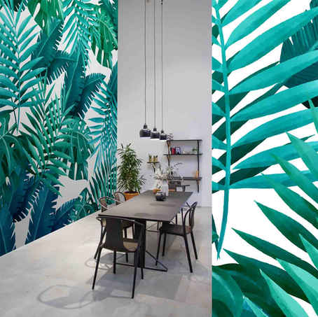 lifencolors-wallpaper-floral-tropical-leaves-diningroom-bedroom-livingroom