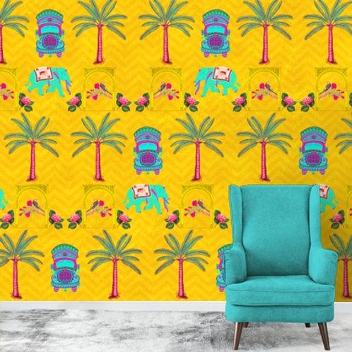 Quirky Indian Pop Art Wallpaper