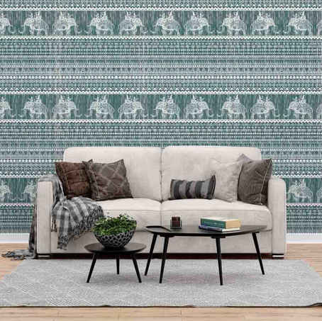 lifencolors-wallpaper-elephant-tribal-bedroom-livingroom