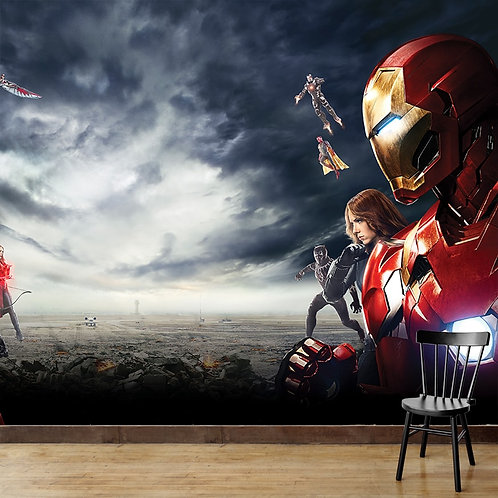 Avengers, superhero, wallpaper for kids room