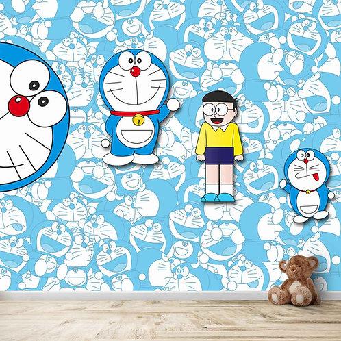 Doremon and nobita, 3d design, for kids room