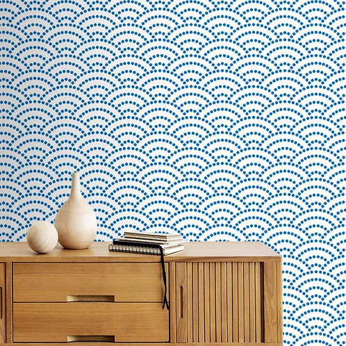 Abstract Wave Pattern, Customised Wallpaper