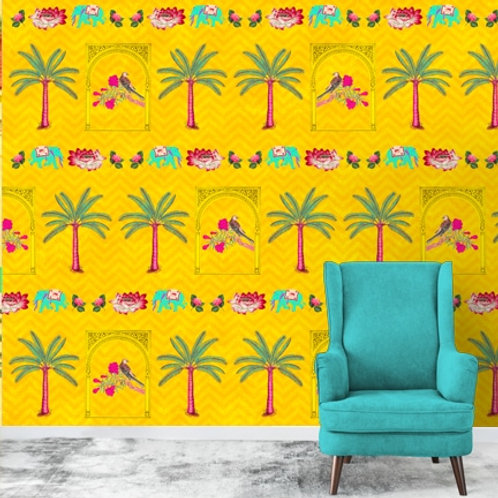 Popart Indian theme wall murals