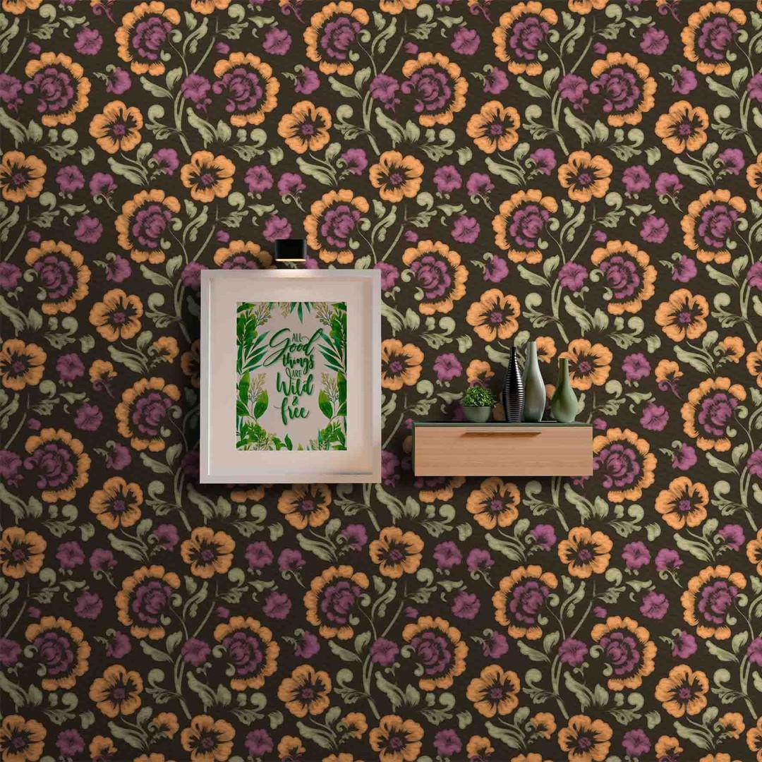 lifencolors-wallpaper-floral-repeat-brown