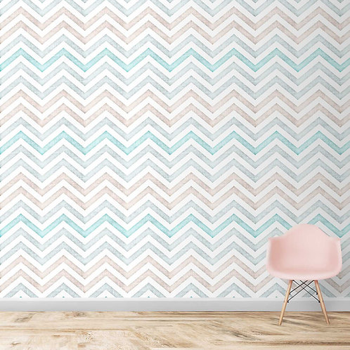 chevron pattern with fabric texture, wallpaper for walls