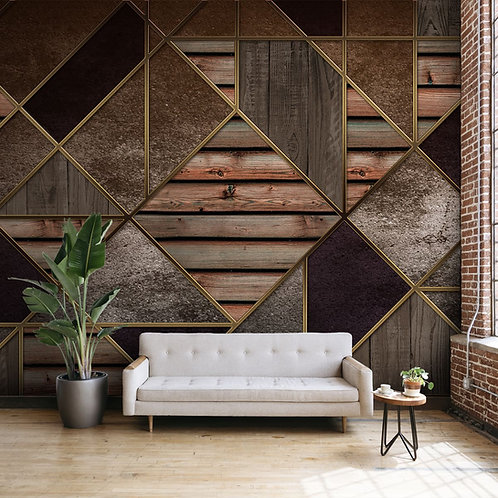 3D Abstract Pattern for Walls, Customised Wallpaper