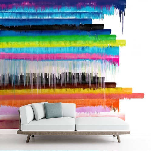 Dripping Paint Effect Abstract Wallpaper for Walls