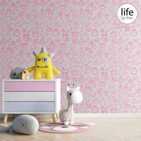 Life N Colors wallpapers for nursery kid's rooms