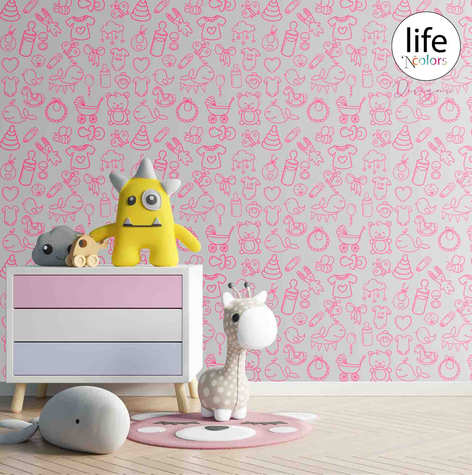 Life N Colors wallpapers for nursery kid's rooms