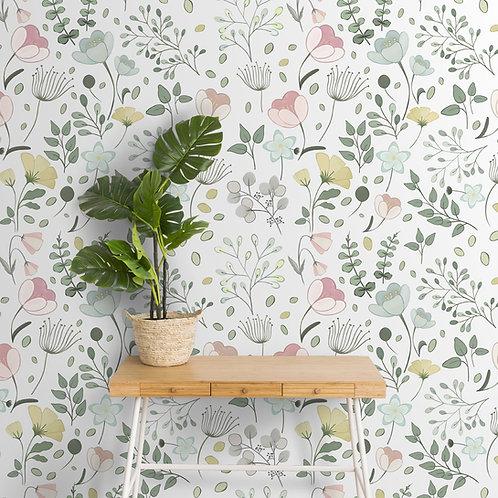 Pastel floral theme cute wallpaper
