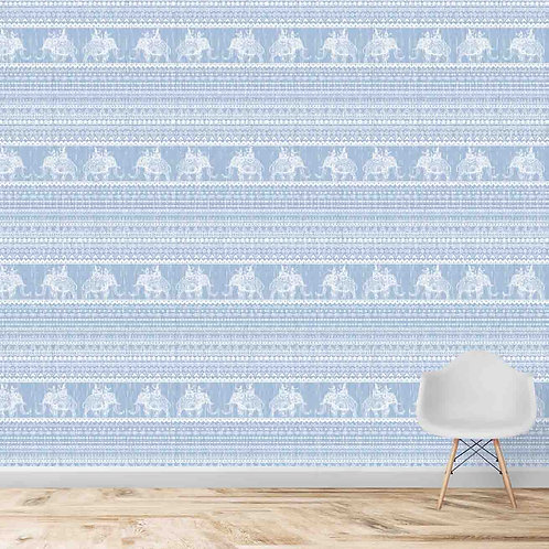 Elephant repeat indian pattern, premium textured wallpaper