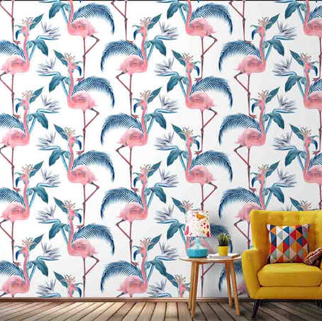 Flamingo Repeat pattern wallpapers for w
