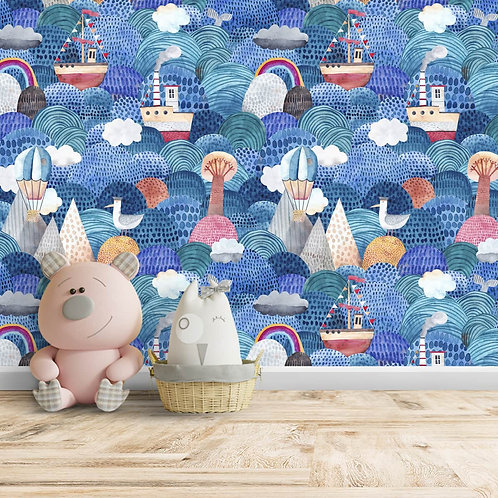 Cute repetitive Pattern for kids Room