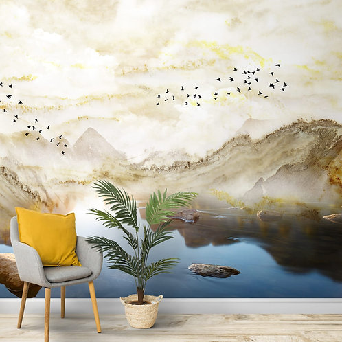 Lovely Scenery with Mabel Effect, Customised Wallpaper