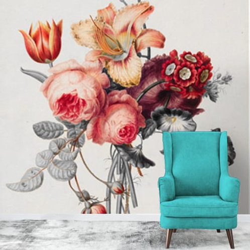 Flower bouquet wall painting, suitable for all rooms