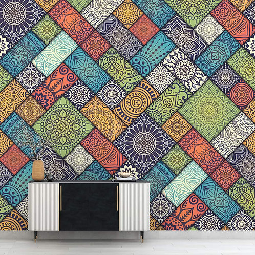 Tiles with Abstract Repeat Pattern, Customised Wallpaper