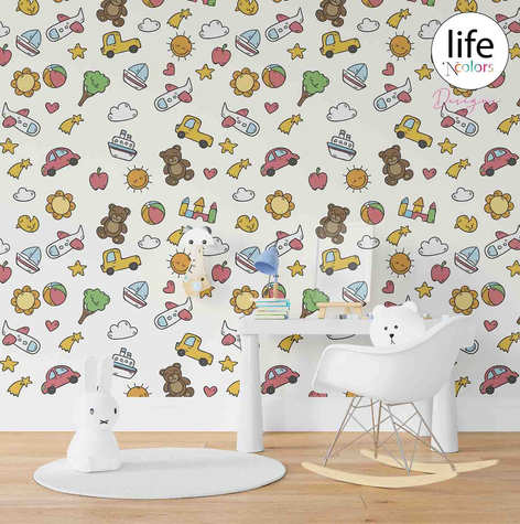 Babies room wallpapers for nursery by Lifencolors Gurgaon
