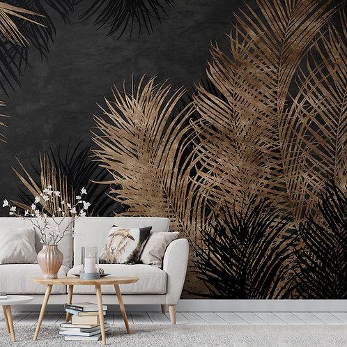 Dark Tropical Design Wallpaper