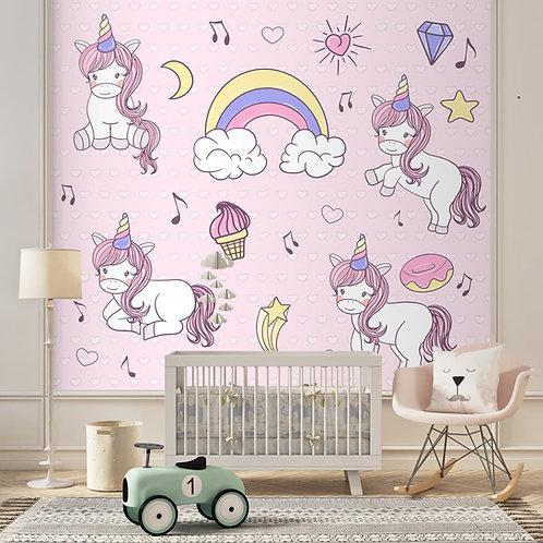 Girl Room Unicorn Wallpaper Customised Wall Mural
