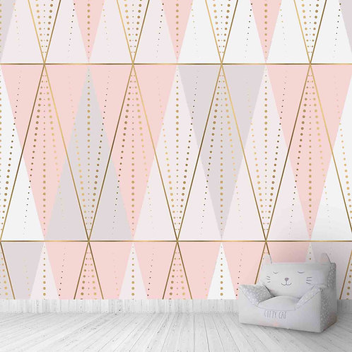 Geometric, triangles wallcoverings