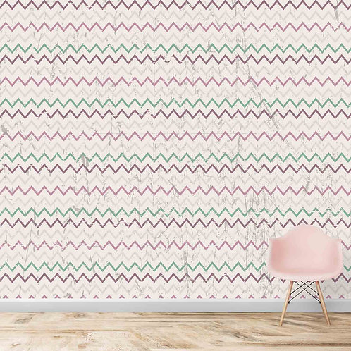 Chevron pattern with distorted texture wallpaper