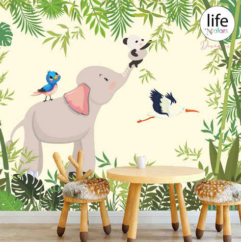 Life N Colors Animal themed wallpapers for kid's rooms