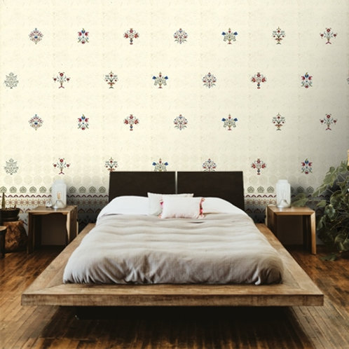Indian pattern wallpaper for living and bedroom