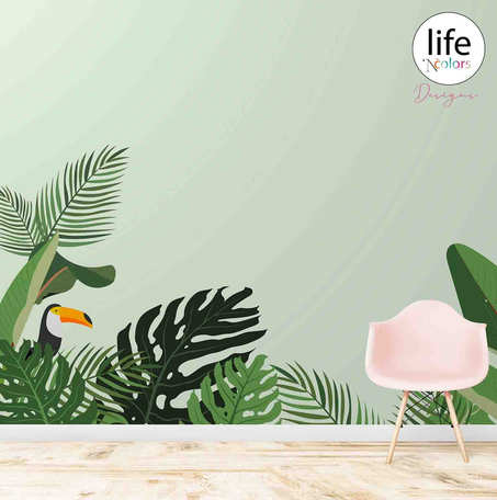 Kids Room Customised Wallpapers tropical theme