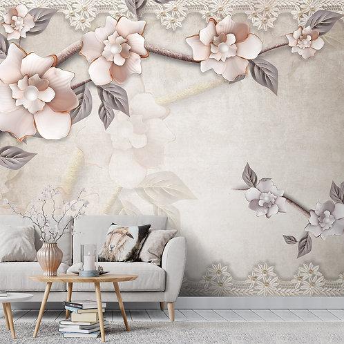 Rich 3D Design Wallpaper for Walls, Pastel Shades