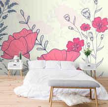 lifencolors-wallpaper-floral-pink-english-bedroom-livingroom