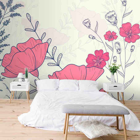 lifencolors-wallpaper-floral-pink-english-bedroom-livingroom