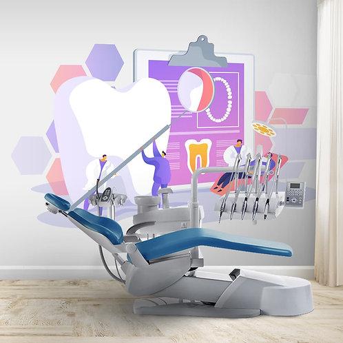 Colourful Designer Wallpaper For Dental Clinics