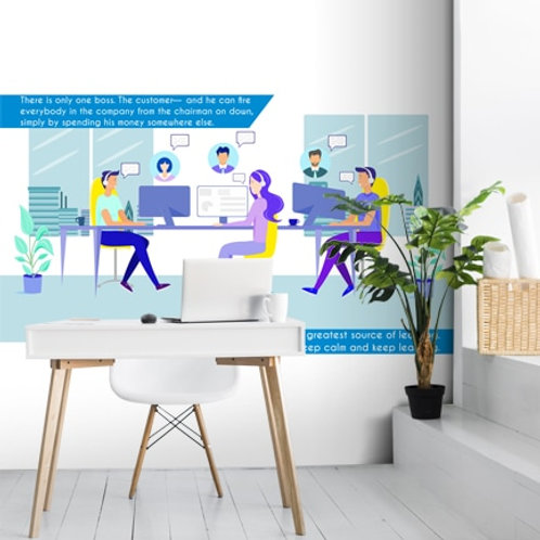 Office wallpaper for meeting rooms