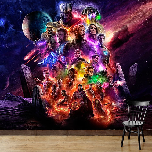 Avengers, superhero wall mural for kids room