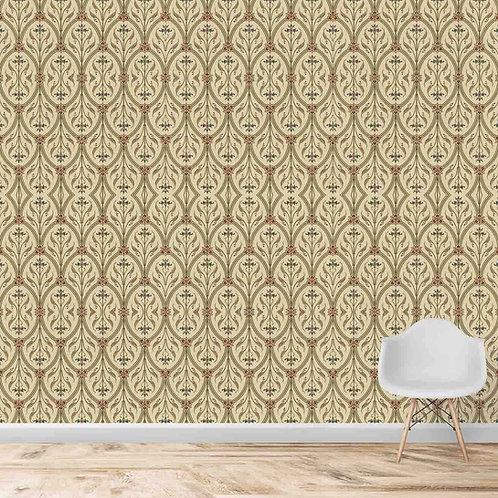 Persian Style Damask Pattern Seamless Wallpaper