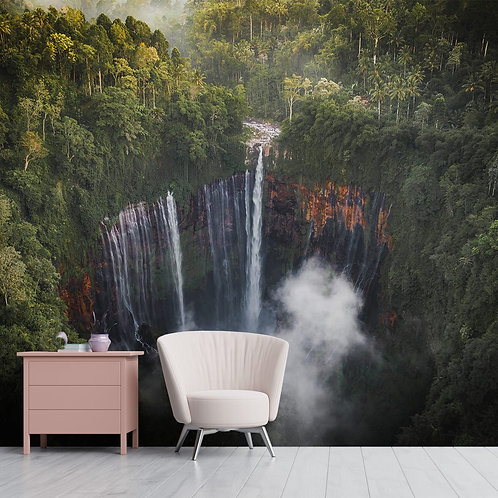 Satisfying Waterfall Wall Mural for Home and Office