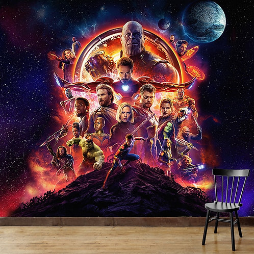 The avengers, wall mural for kids room