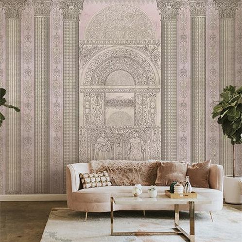Persian Art form, Persian Pillar Design, Best Wall Mural for Living Room