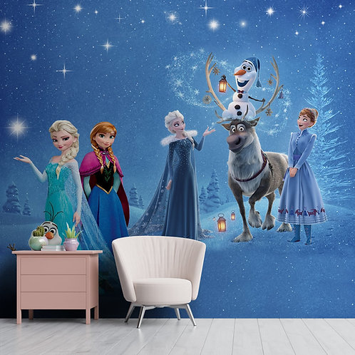 Cute Frozen Movie Wall Mural, Customised