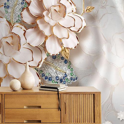 3D Floral Design, Customised Wallpaper