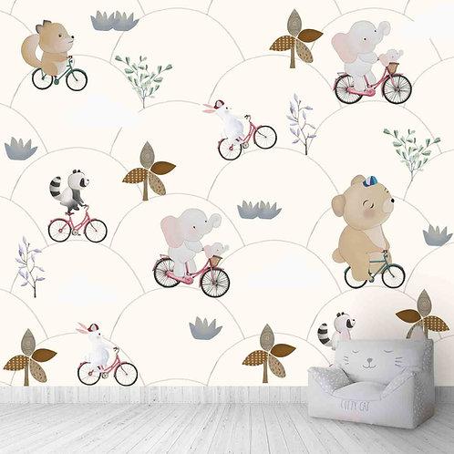 Kids room nursery wallpapers pastel shade