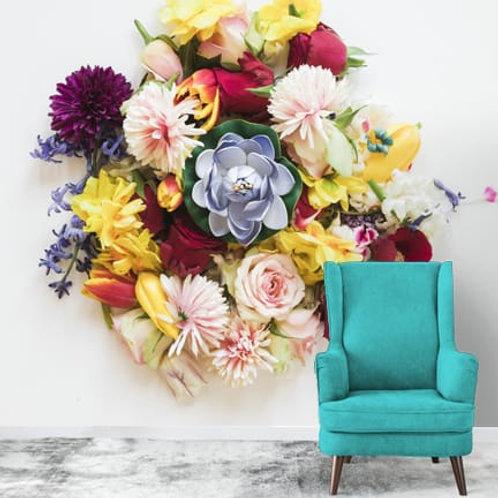 3D Customised Flower Bouquet Wallpaper